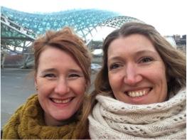 Karin och jag i Tblisi 2014