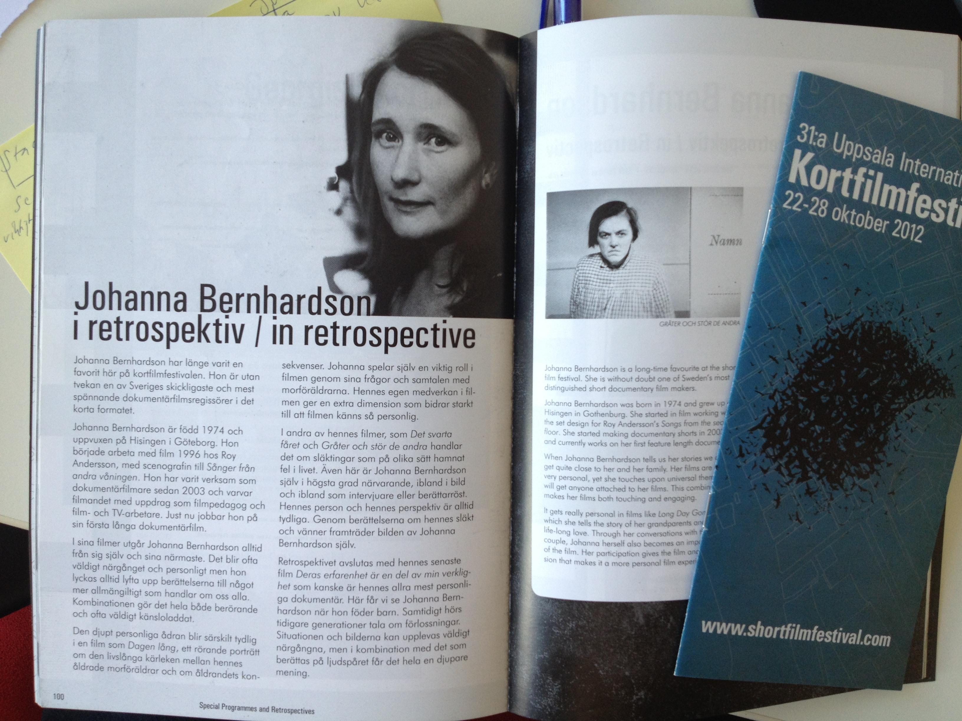 Retrospektiv Uppsala kortfilmfestival 2012